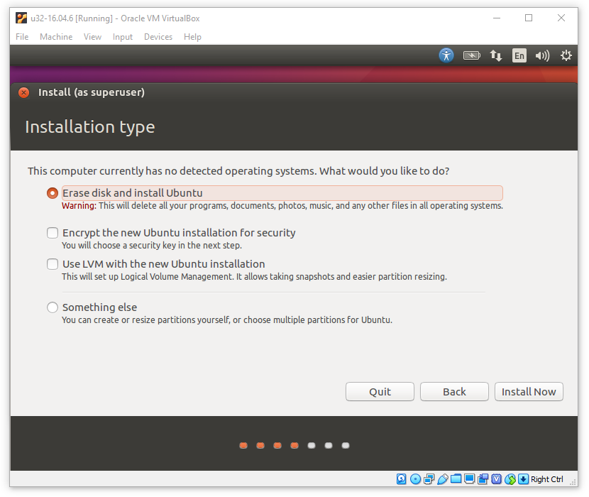 Install Ubuntu Linux Into Virtual Machine - CSCI 353, Spring 2020