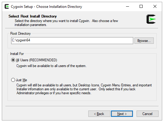 Notes on Installing Cygwin with X11 on Windows - CSCI 402